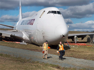 747 Jet Skids Off at the Halifax Runaway Due to Strong Winds!